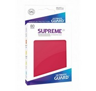 Протекторы Ultimate Guard, красные (Supreme UX Sleeves Standard Size Red)
