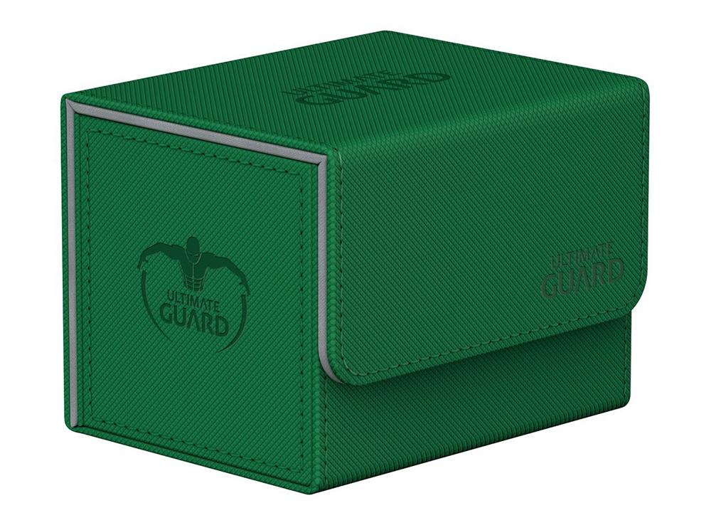 Коробочка Ultimate Guard с бок. загрузкой XenoSkin зелёная (100 карт)