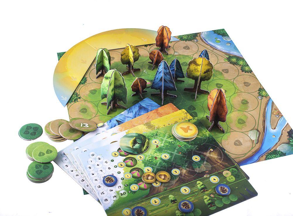 Компоненты настольной игры Фотосинтез (Photosynthesis)