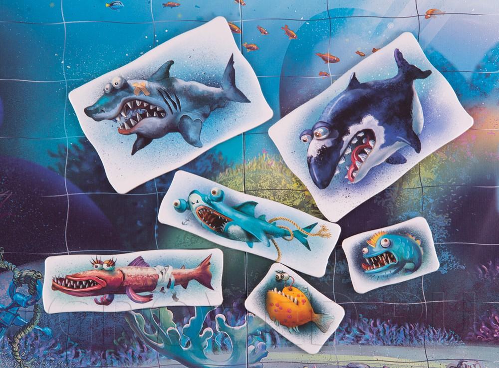 Страшные и немного смешные хищные рыбы. Настольная игра Дорога на риф