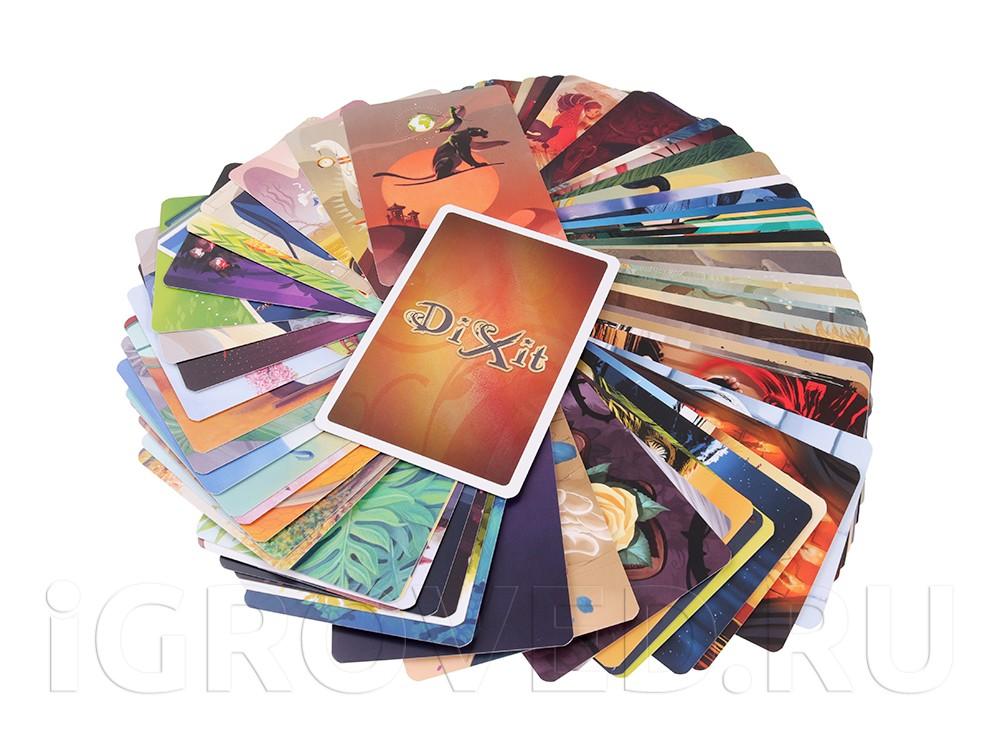 Компоненты настольной игры Диксит 9: Юбилейный (Dixit 10th Anniversary, дополнение)