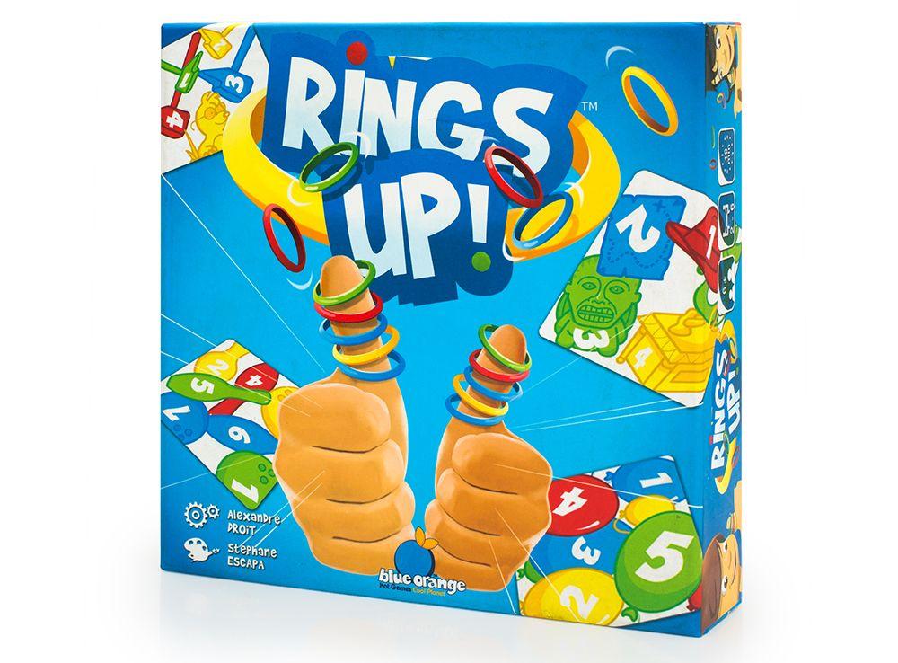 Коробка настольной игры Разноцветные колечки (Rings Up)
