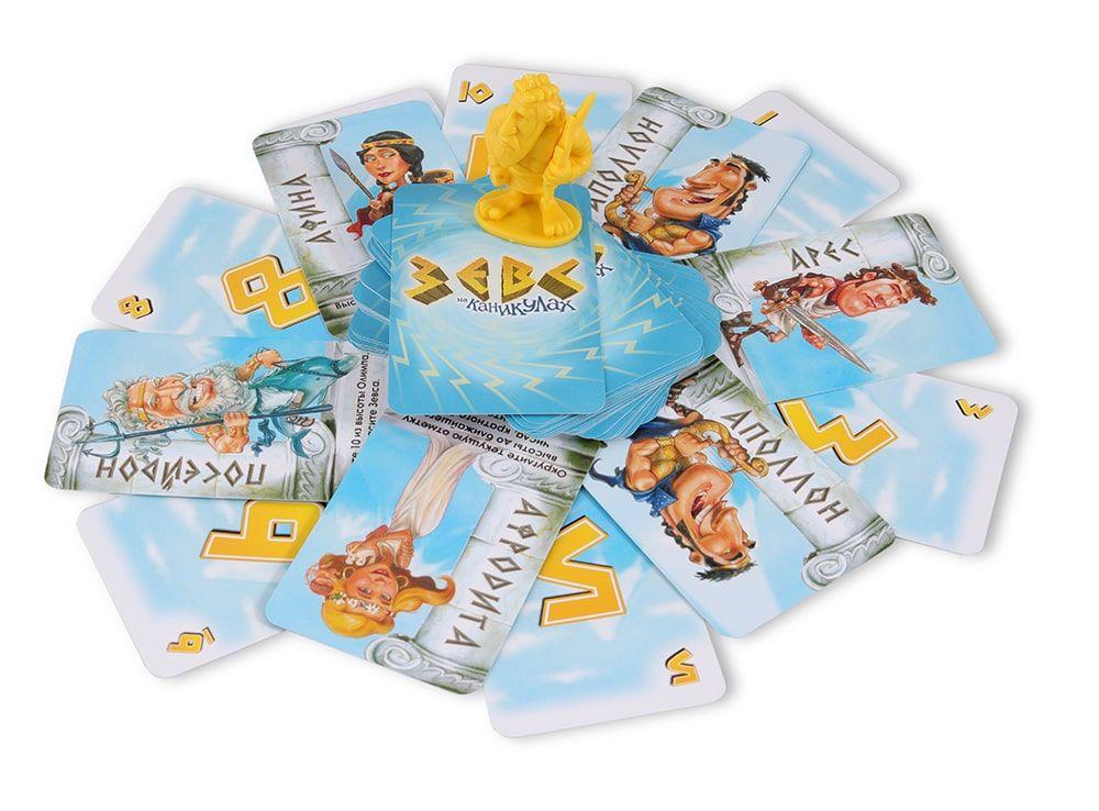 Компоненты настольной игры Зевс на каникулах