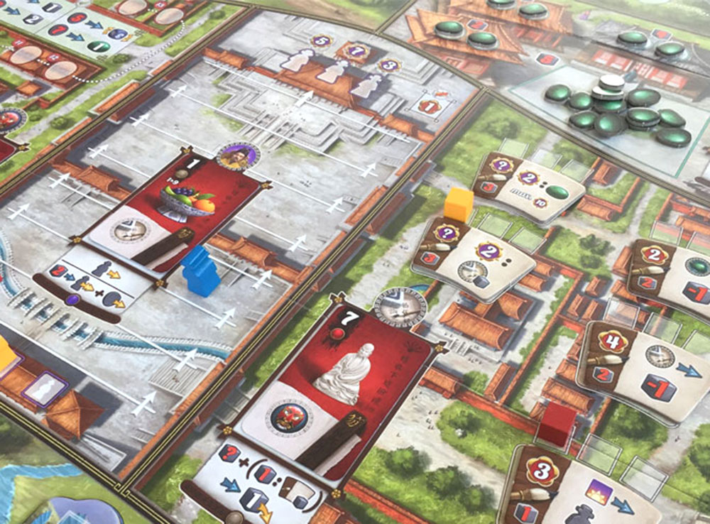 Игровой процесс настольной игры Запретный город