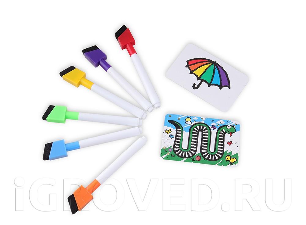Компоненты настольной игры Скоростные цвета (квадратная коробка)