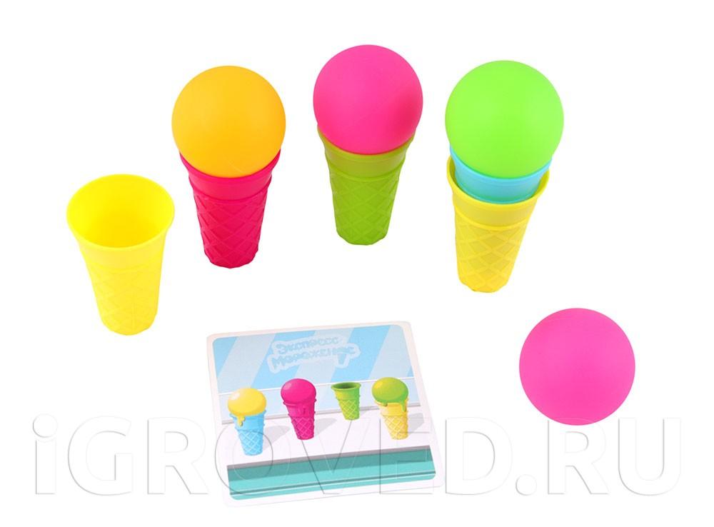 Компоненты настольной игры Экспресс-мороженое