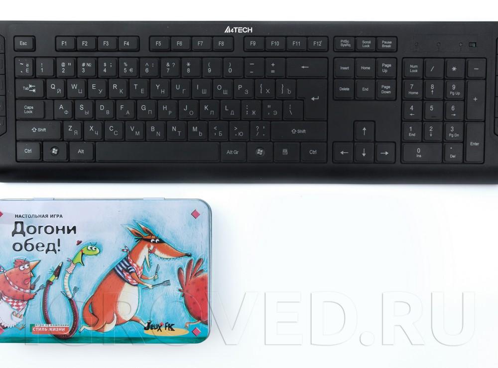 Коробка по сравнению с клавиатурой