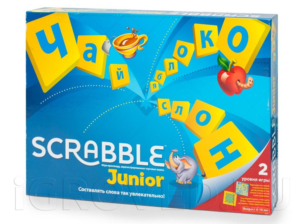 Коробка настольной игры Скрабл Джуниор (Scrabble Junior)