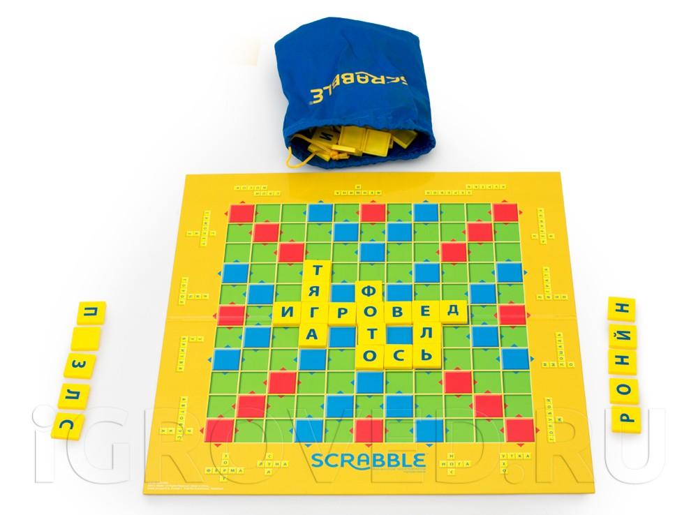 Компоненты настольной игры Скрабл Джуниор (Scrabble Junior)