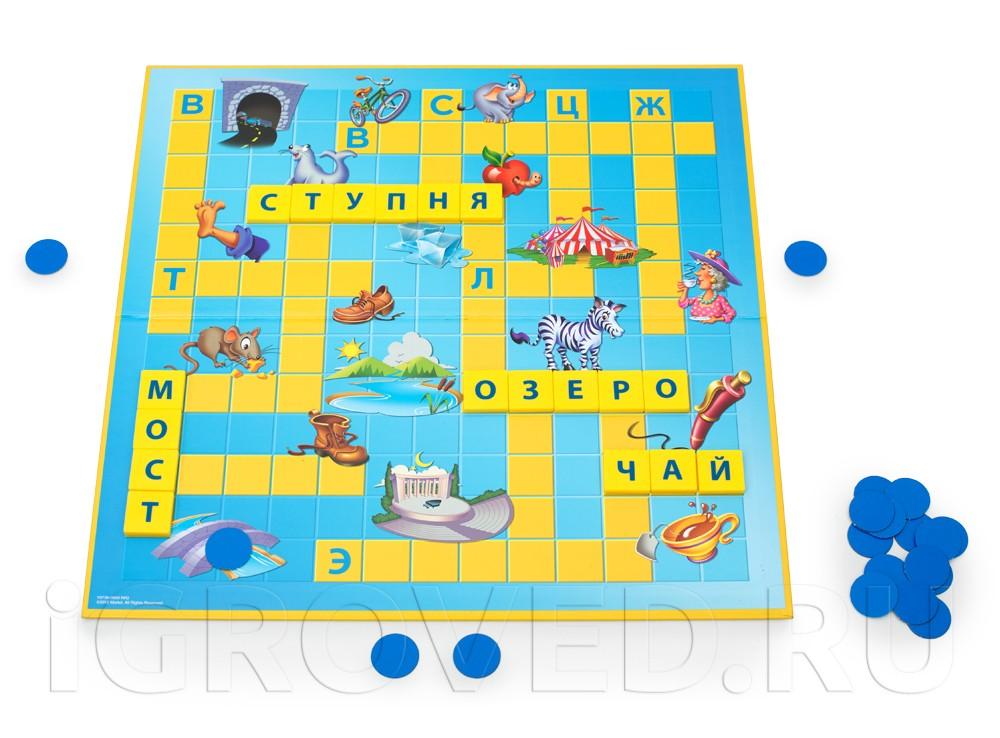 Игровой процесс настольной игры Скрабл Джуниор (Scrabble Junior)