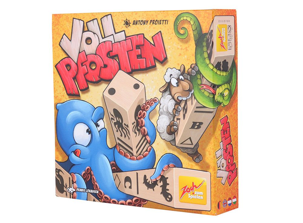 Коробка настольной игры Закрутень (Vollpfosten)
