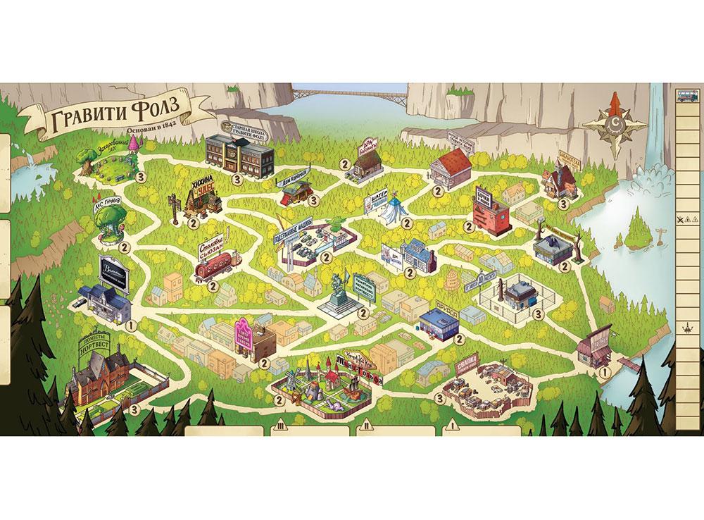 Игровое поле настольной игры Гравити Фолз