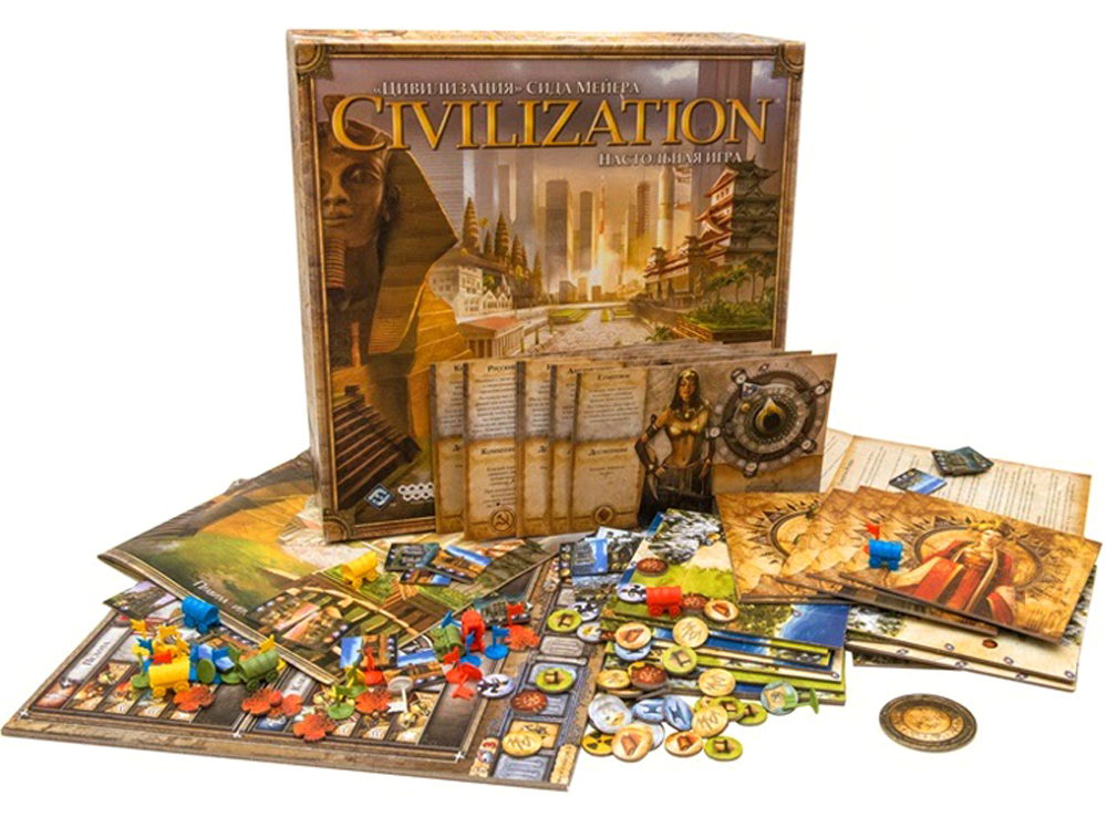 Компоненты настольной игры Цивилизация Сида Мейера (Sid Meier's Civilization: The Board Game)