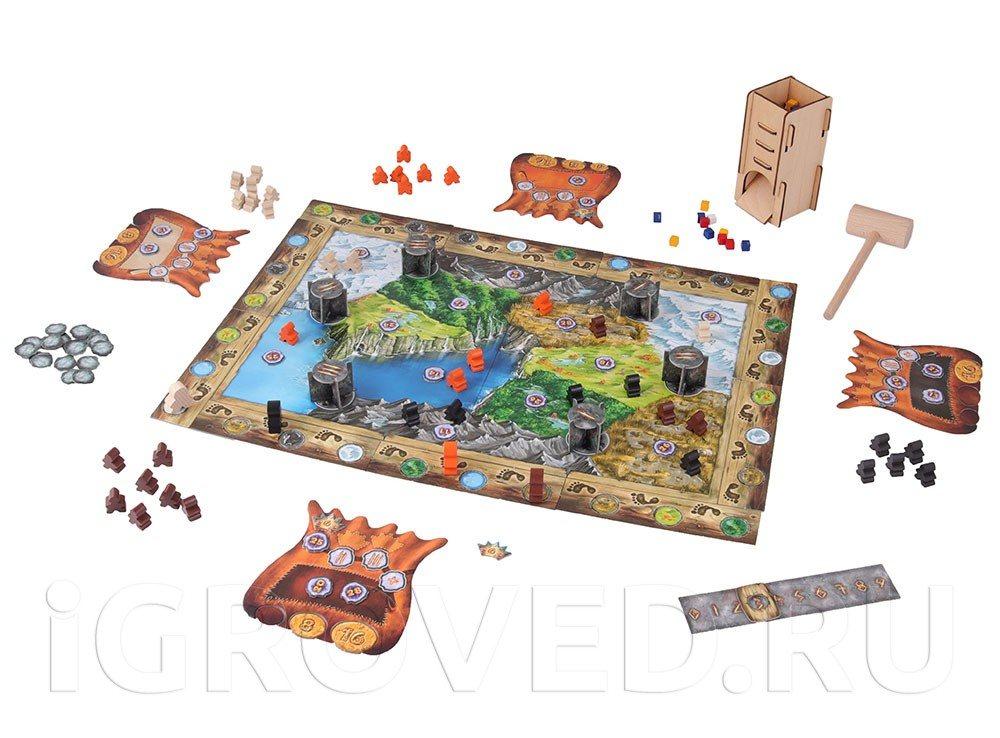 Игровой процесс настольной игры Молот Троллей (Trollfjord)