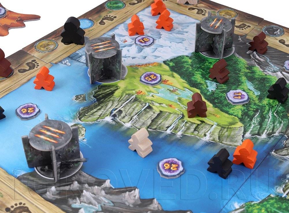 Компоненты настольной игры Молот Троллей (Trollfjord)