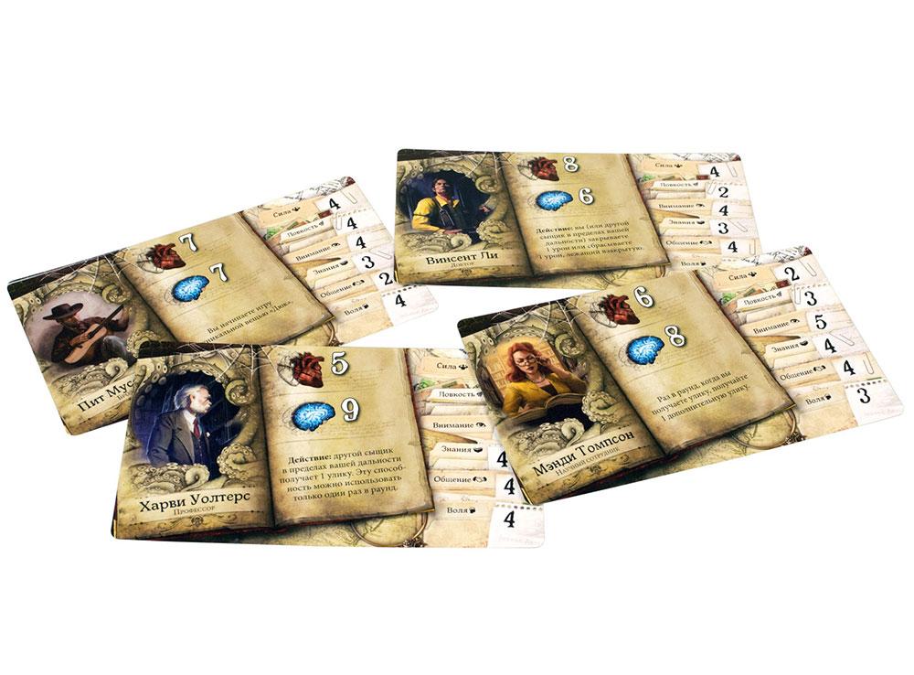 Компоненты настольной игры Особняки безумия. Второе издание