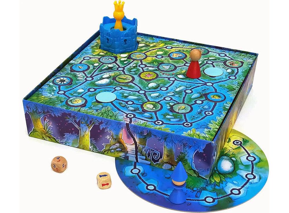 Игровое поле и компоненты настольной игры Заколдованная башня