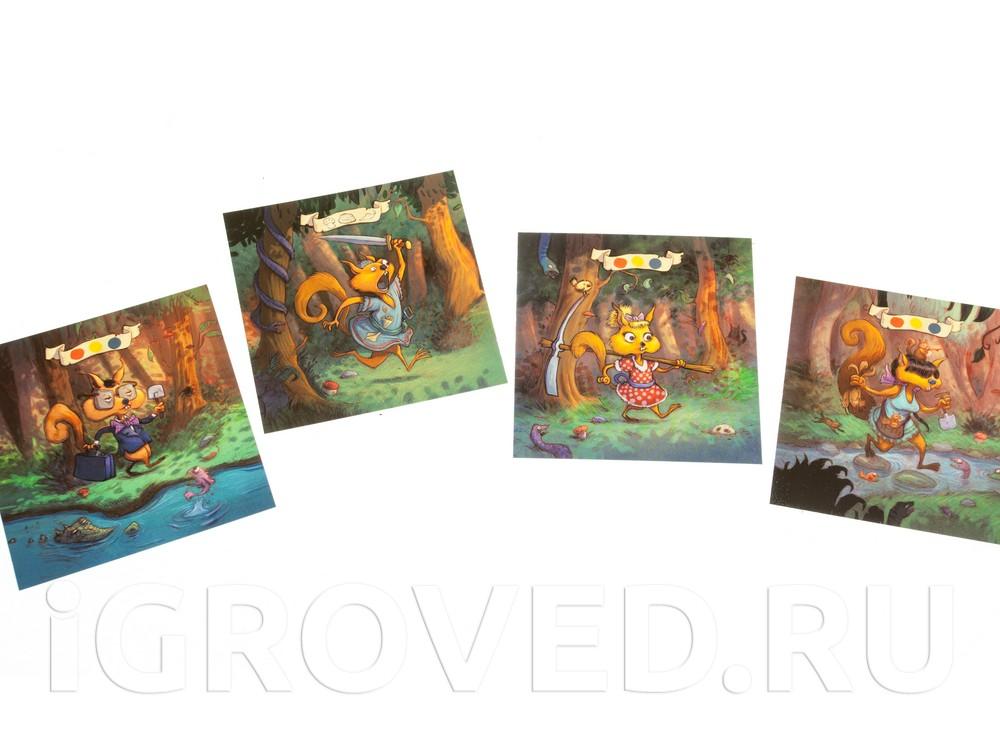 Карточки настольной игры Миссия Орехи