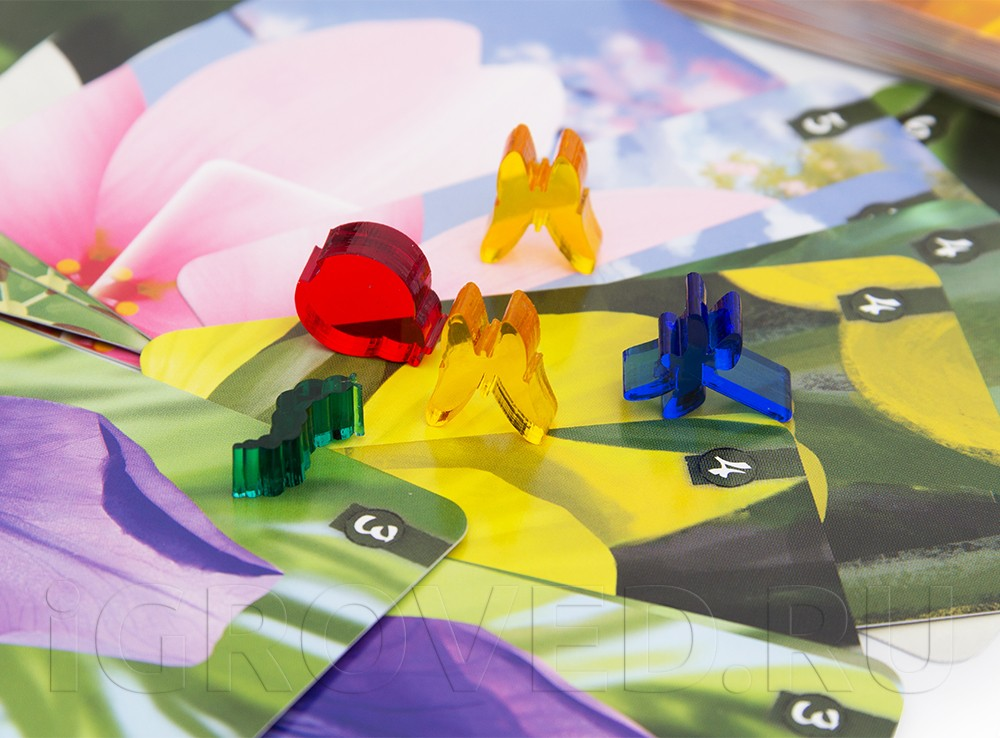 Волшебные бабочки и цветы в настольной игре Лотос (Lotus)