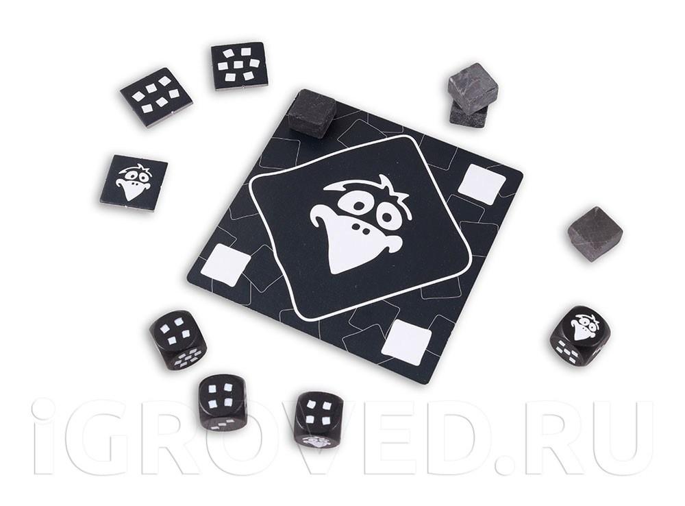 Компоненты настольной игры Чёрный Ворон (Pechvogel)