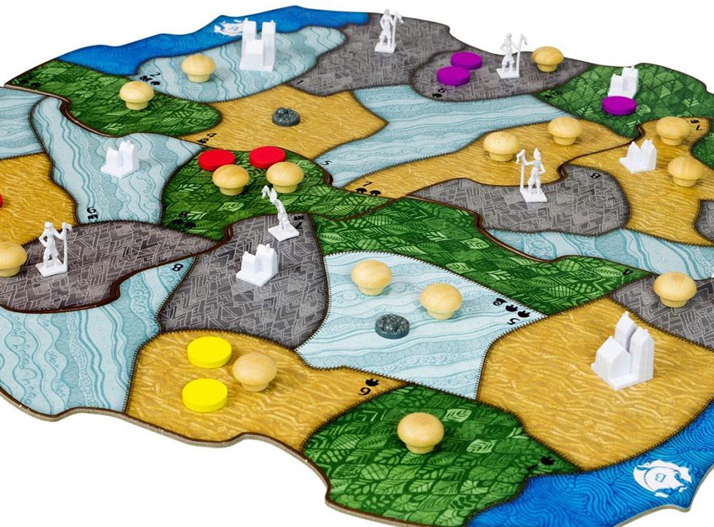 Компоненты настольной игры Остров духов