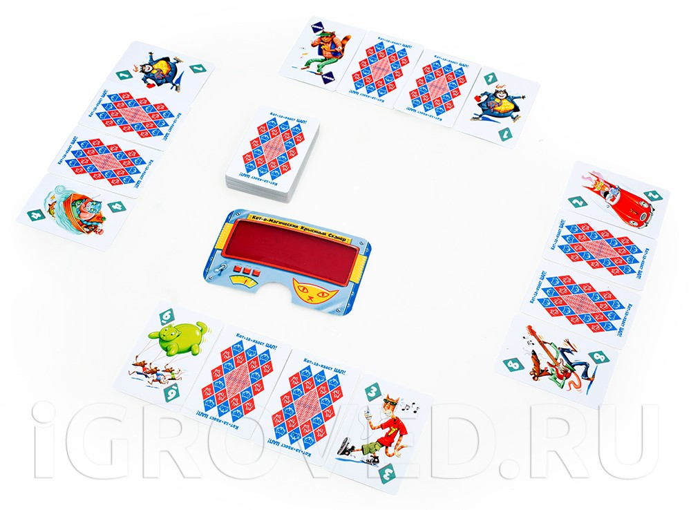 Игровой процесс настольной игры Кот-за-Хвост Цап! Делюкс