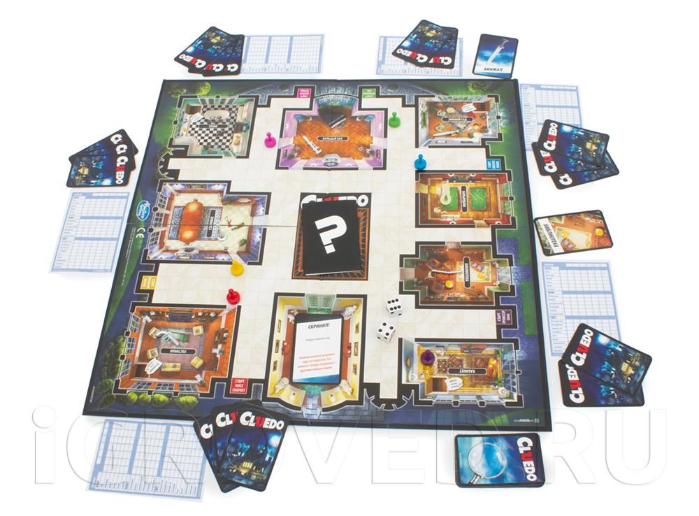 Игровой процесс настольной игры Клюедо (Cluedo)
