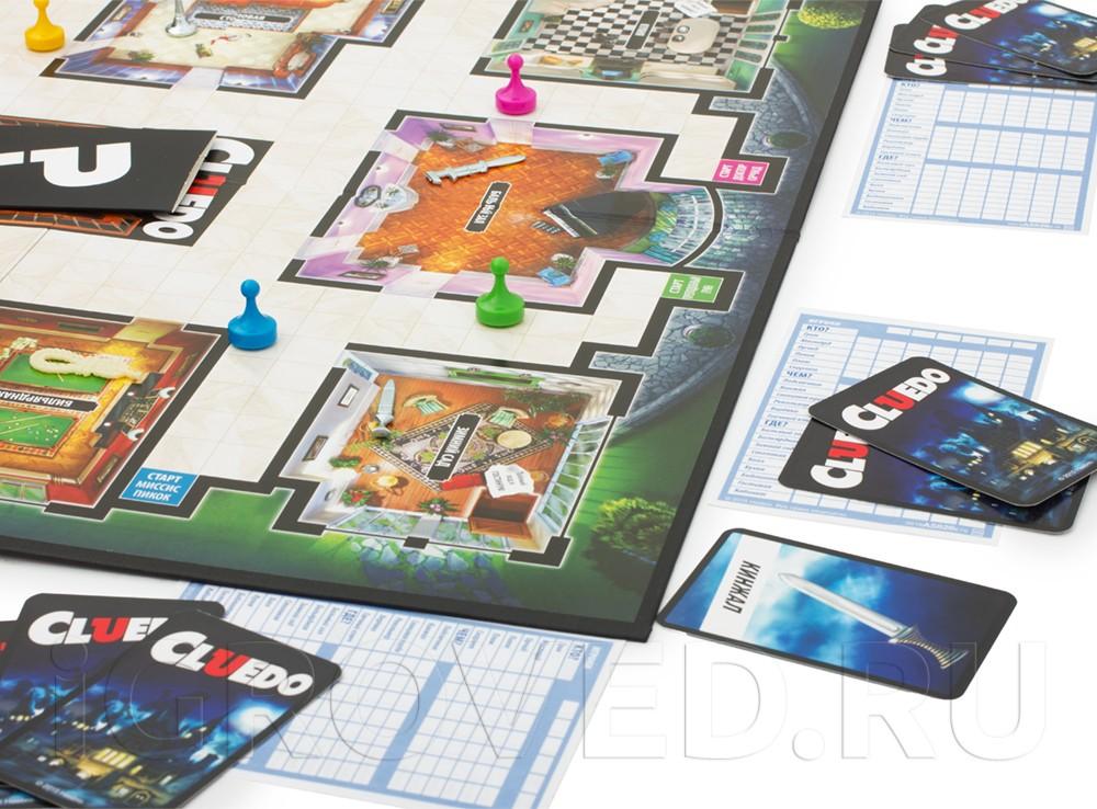 Игровой процесс настольной игры Клюедо (Cluedo