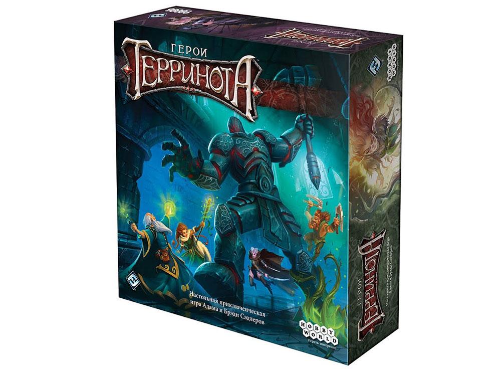 Коробка настольной игры Герои Терринота