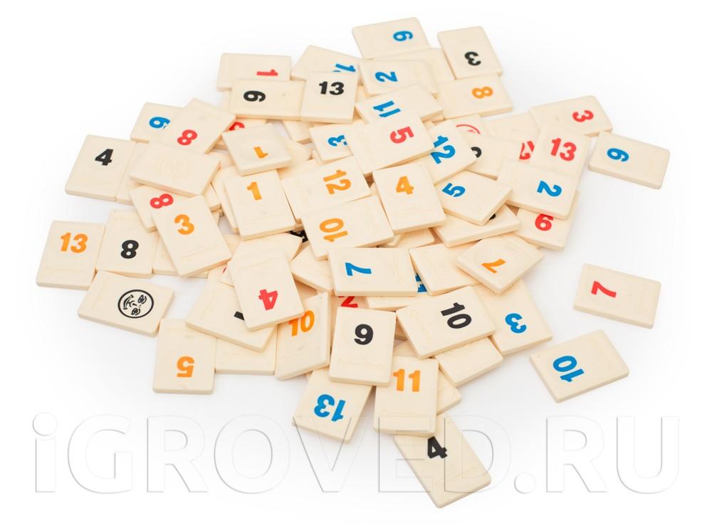 Компоненты настольной игры Руммикуб (Rummikub)