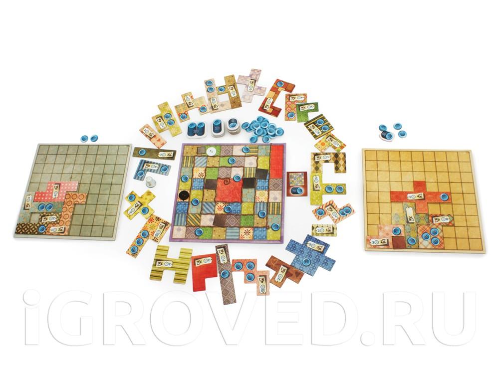 Игровой процесс настольной игры Пэчворк (Patchwork)