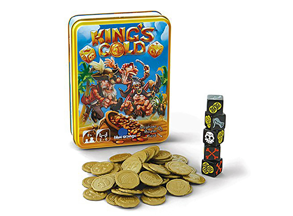 Коробка и компоненты настольной игры Королевское золото (KING'S GOLD)