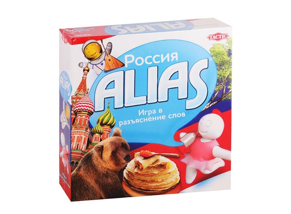 Коробка настольной игры Россия Alias