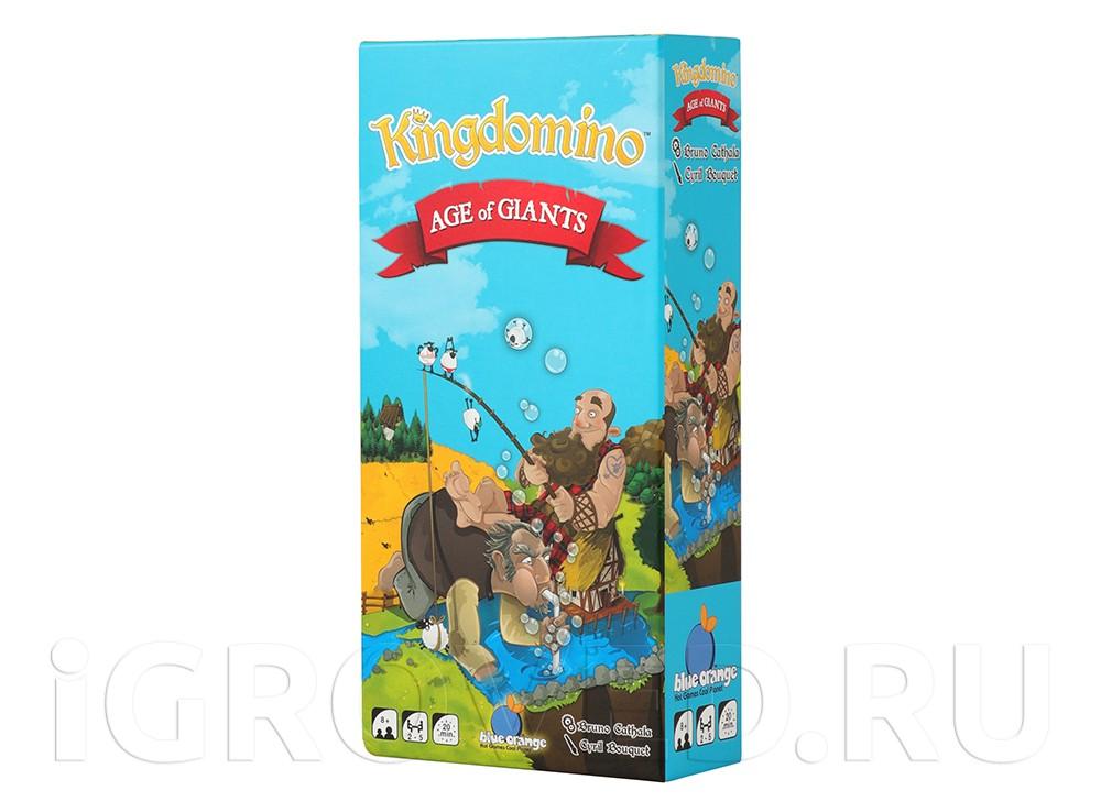 Коробка настольной игры Лоскутное королевство: Век великанов (Kingdomino Age of Giants, дополнение)