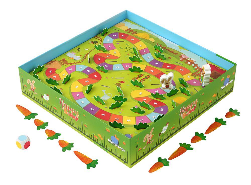 Игровой процесс настольной игры Удачливый кролик (Happy Bunny)