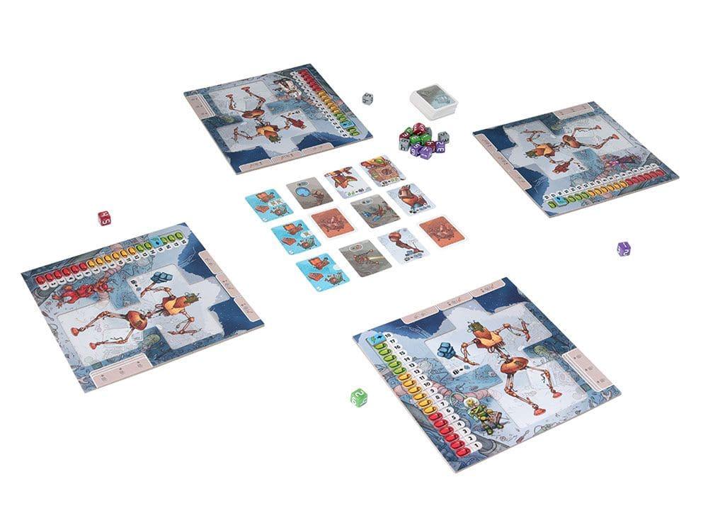 Игровой процесс настольной игры Луноботы (Moon bots)