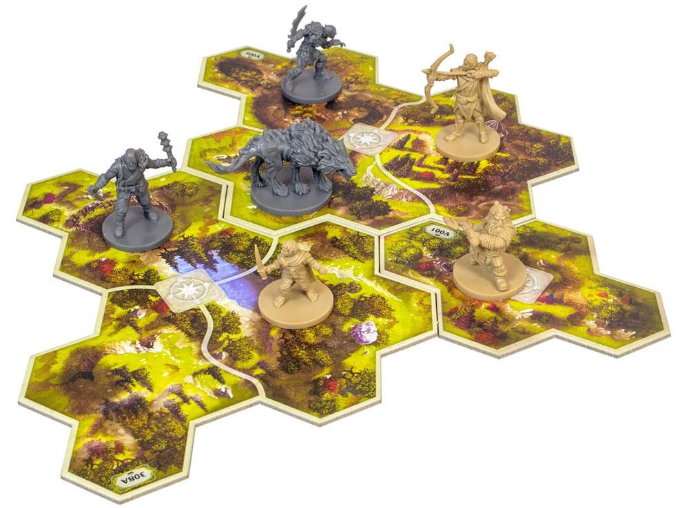 Компоненты настольной игры Властелин колец: Странствия в Средиземье