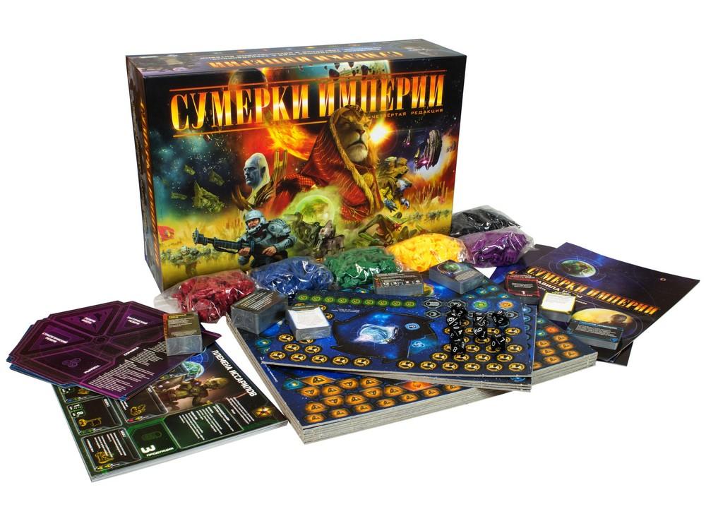 Коробка и компоненты настольной игры Сумерки Империи, 4-я редакция (Twilight Imperium, 4-rd edition)
