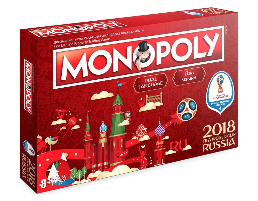 Коробка настольной игры Монополия FIFA 2018