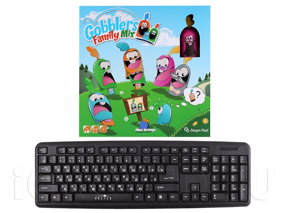 Коробка настольной игры Гобблет: Семейные прятки в сравнении с клавиатурой