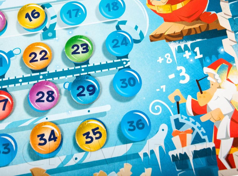 Компоненты настольной игры Морозные каникулы