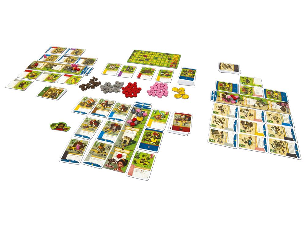 Компоненты настольной игры Поселенцы