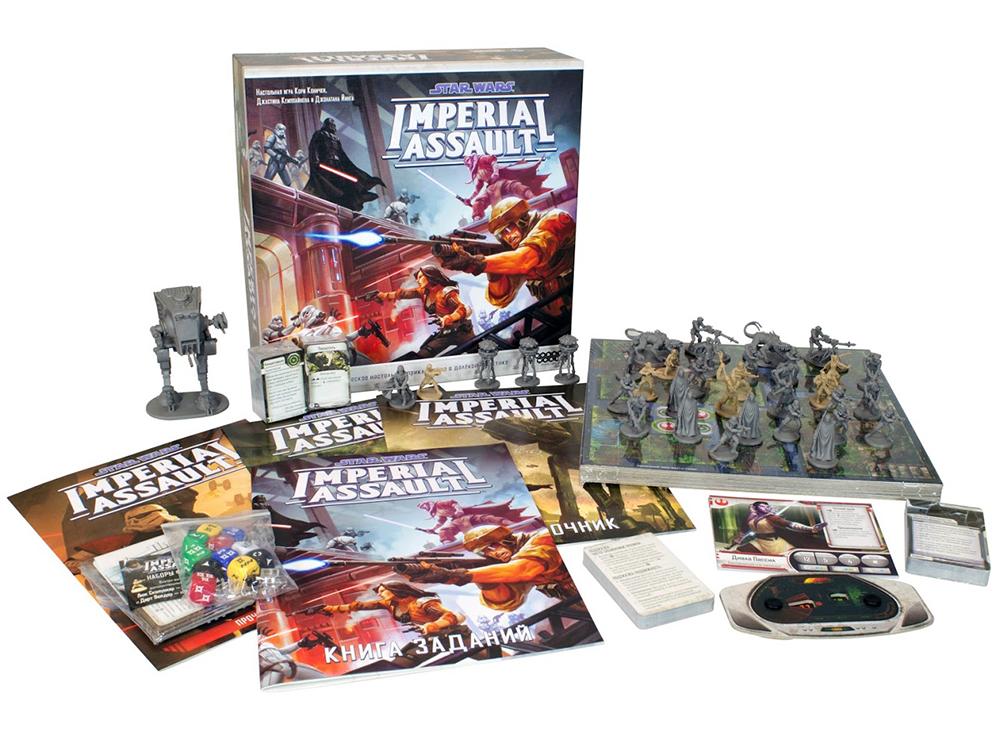Компоненты настольной игры Star Wars: Imperial Assault (рус. изд.)