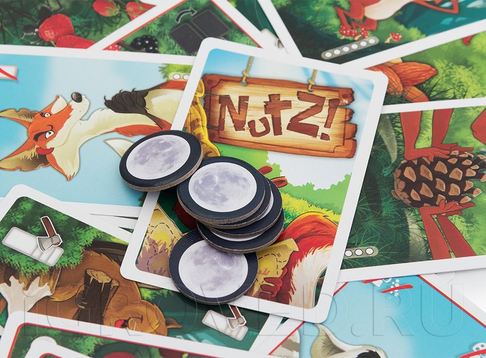 Хитрые лисы, быстрые белки, обжоры еноты. Настольная игра Беличье счастье (Nutz)