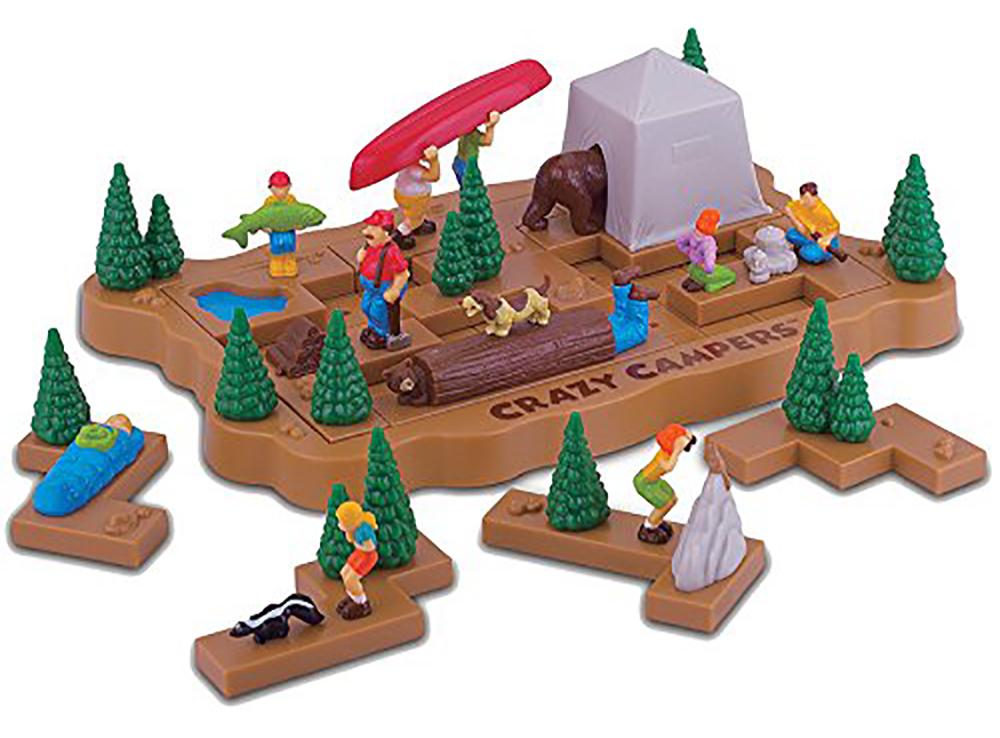 Компоненты настольной игры-головоломки Crazy Campers