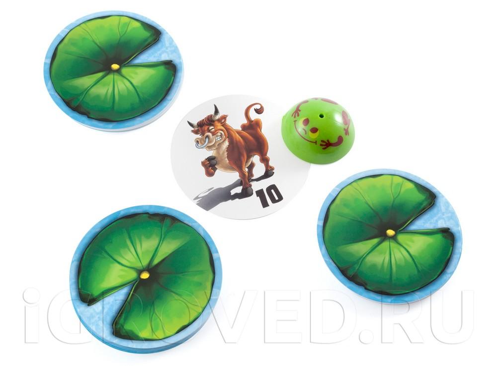 Компоненты настольной игры Хвастливая лягушка