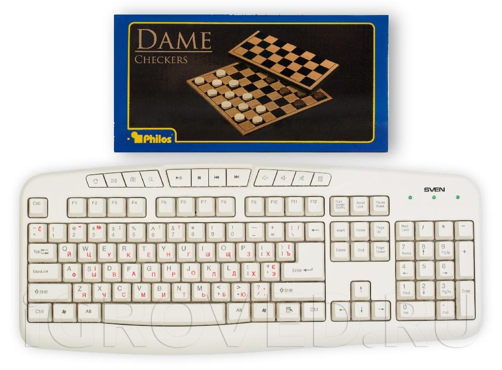Шашки (диаметр 21 мм) в сравнении с клавиатурой