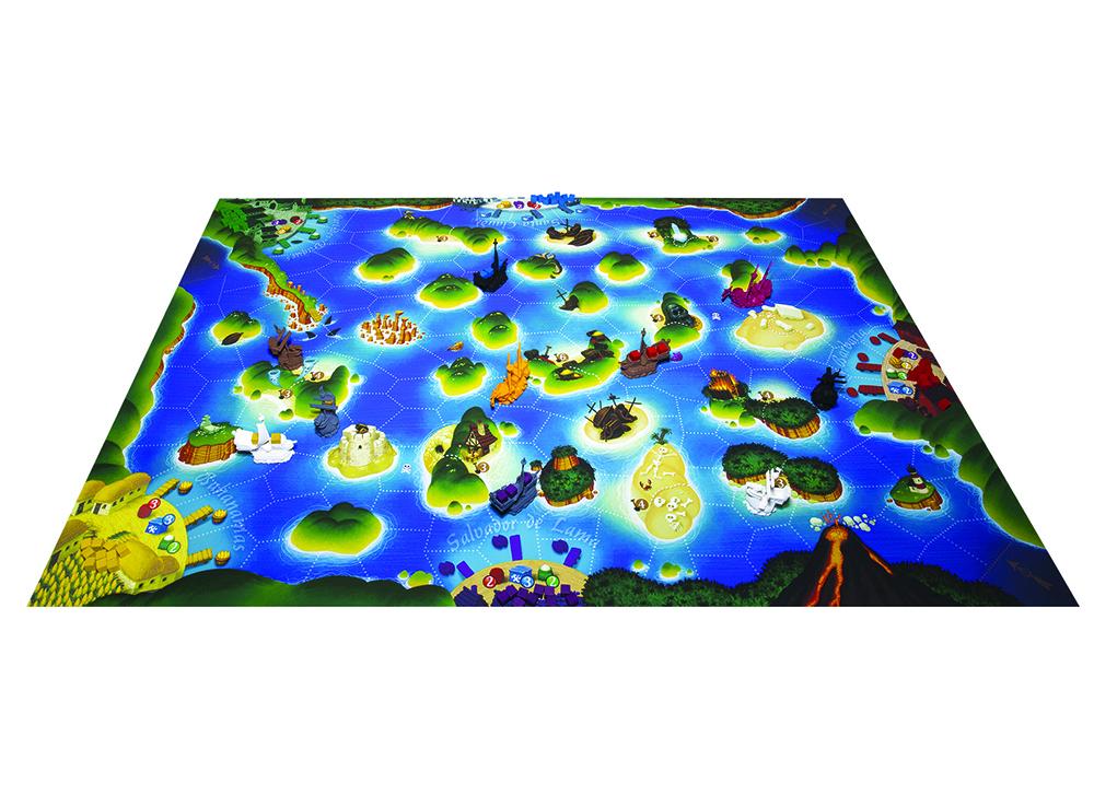 Игровое поле настольной игры Чёрный Флот (Black Fleet)