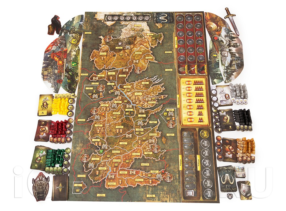 Компоненты настольной игры Игра престолов (2-е издание)