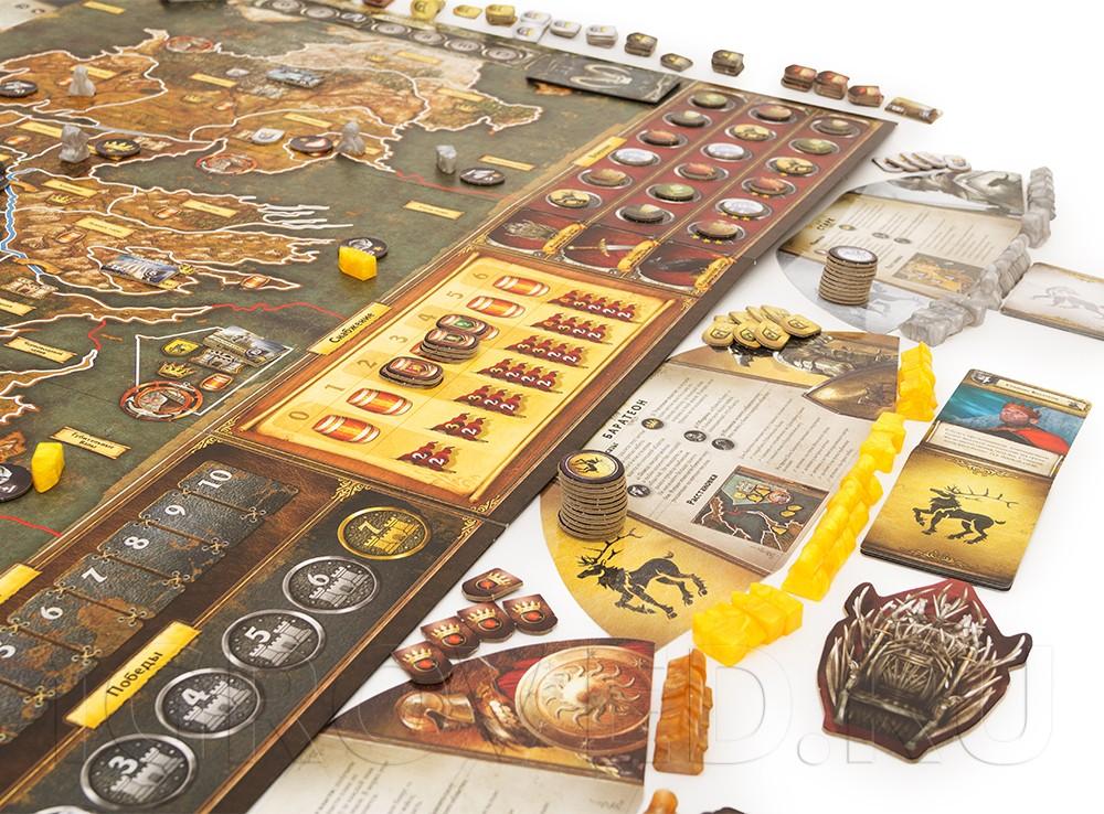 Вам понадобится провизия (трек снабжения), чтобы закупать армии, которые пойдут на завоевание крепостей. Настольная игра Игра престолов (2-е издание)